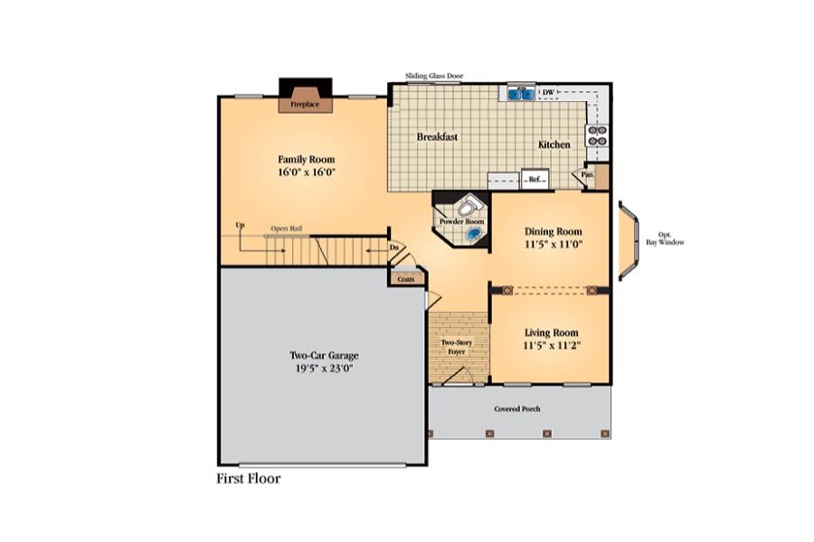 Floor plan for first floor of revised Hanoverian model